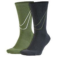 Men's Nike 2-pack Swoosh HBR Crew Socks