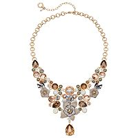 Simply Vera Vera Wang Flower & Faceted Stone Statement Necklace