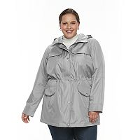 Plus Size Croft & Barrow¨ Hooded Drawstring Anorak Jacket