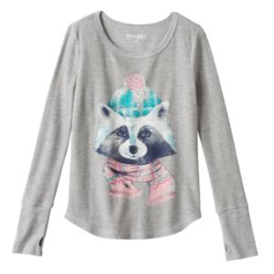 Girls 7-16 & Plus Size Mudd® Thumbhole Long Sleeve Thermal Graphic Tee