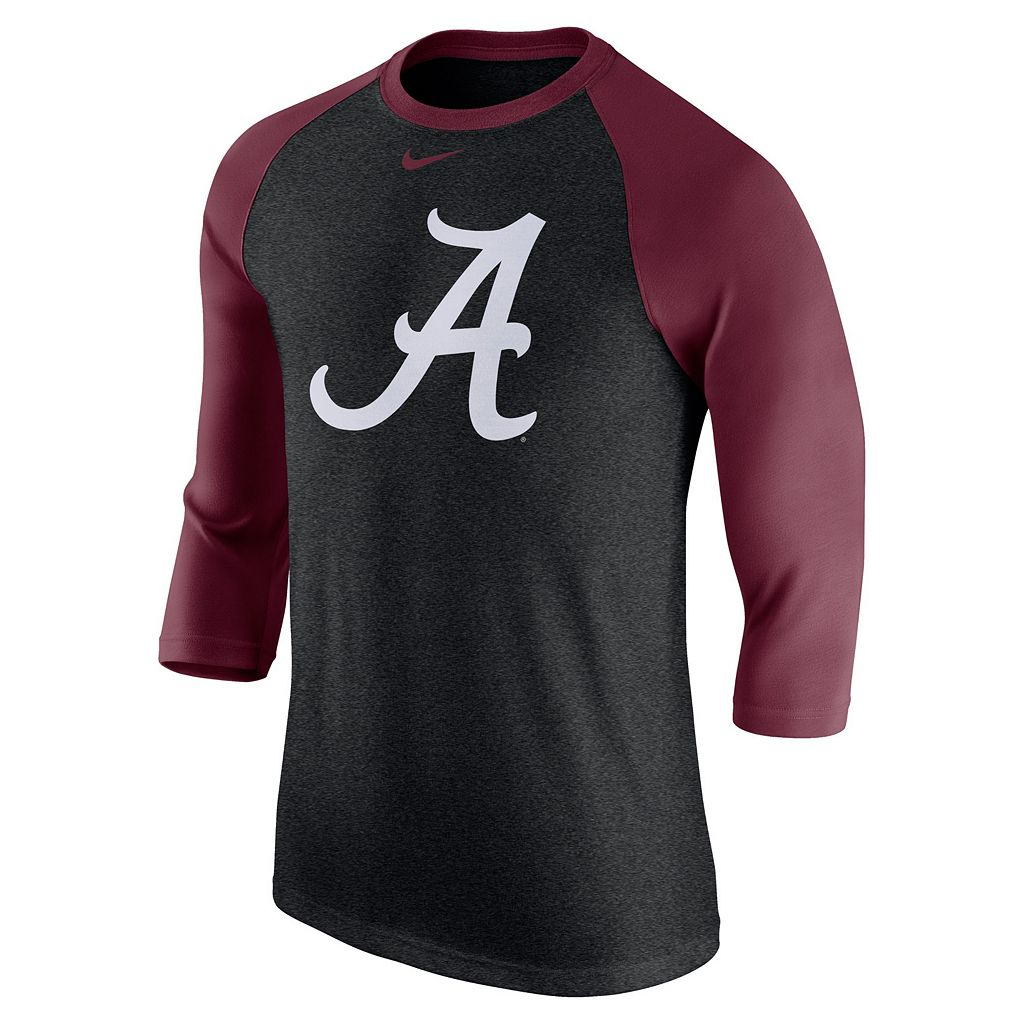 Men's Nike Alabama Crimson Tide Tri-Blend Raglan Tee