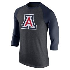 Men's Nike Arizona Wildcats Tri-Blend Raglan Tee