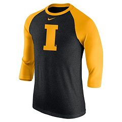 Men's Nike Iowa Hawkeyes Tri-Blend Raglan Tee