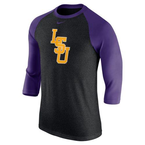 Men's Nike LSU Tigers Tri-Blend Raglan Tee