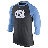Men's Nike North Carolina Tar Heels Tri-Blend Raglan Tee