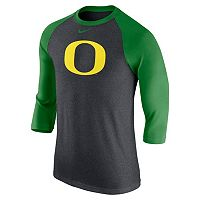 Men's Nike Oregon Ducks Tri-Blend Raglan Tee