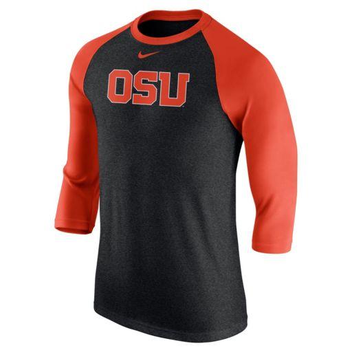 Men's Nike Oregon State Beavers Tri-Blend Raglan Tee