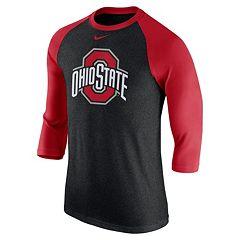 Men's Nike Ohio State Buckeyes Tri-Blend Raglan Tee