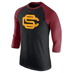 Men's Nike USC Trojans Tri-Blend Raglan Tee