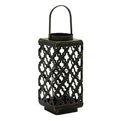 Quatrefoil Metal Candle Lantern