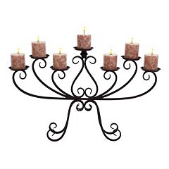 Wrought Iron Scroll Design Candelabra Candle Holder