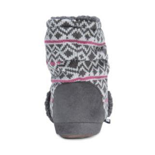 MUK LUKS Women's Knit Slouchy Bootie Slippers