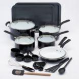 Guy Fieri 25-pc. Ceramic Nonstick Cookware Set