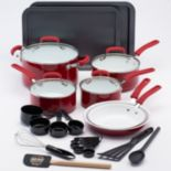 Guy Fieri 25 pc Ceramic Nonstick Cookware Set