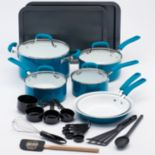 Guy Fieri 25-pc. Ceramic Nonstick Cookware Set