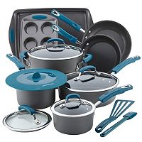 Rachael Ray 15 pc Hard-Anodized Nonstick Cookware Set