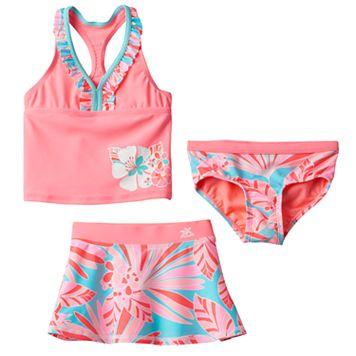 Girls 4-6x ZeroXposur Fantasia Tankini Swimsuit Set