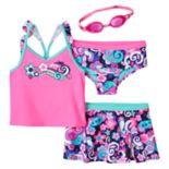 Girls 4-6x ZeroXposur Tsunami Tankini Swimsuit Set
