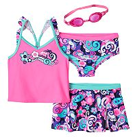 Girls 4-6x ZeroXposur Tsunami Tankini Swimsuit Set