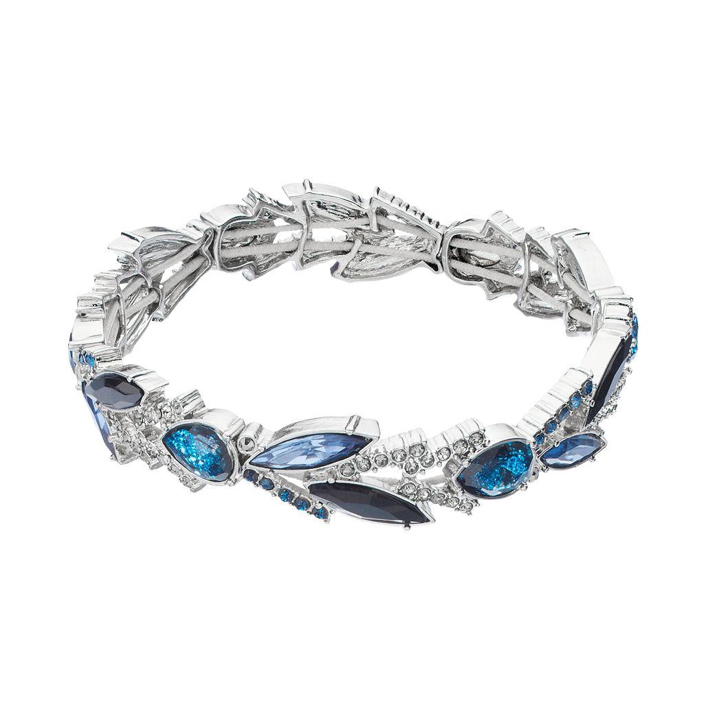 Simply Vera Vera Wang Blue Teardrop & Marquise Stretch Bracelet