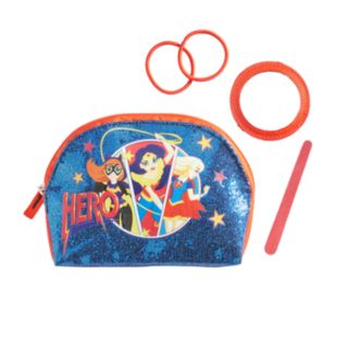 DC Comics DC Super Hero Girls Batgirl, Wonder Woman & Supergirl Glitter Cosmetics Case