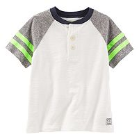 Boys 4-8 OshKosh B'gosh® Raglan Short Sleeve Colorblock Henley Tee