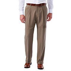 Men's Haggar eCLo Glen Plaid Classic-Fit Pleated Dress Pants