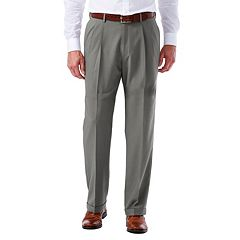 Men's Haggar eCLo Glen Plaid Classic-Fit Pleated Dress Pants