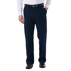 Big & Tall Haggar eCLo Tonal Plaid Classic-Fit Flat-Front Dress Pants