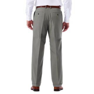 Big & Tall Haggar eCLo Glen Plaid Classic-Fit Pleated Dress Pants