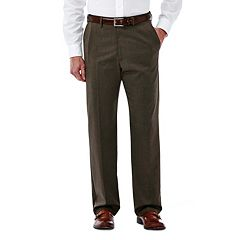 Big & Tall Haggar Premium Stretch Classic-Fit Plain-Front Dress Pants