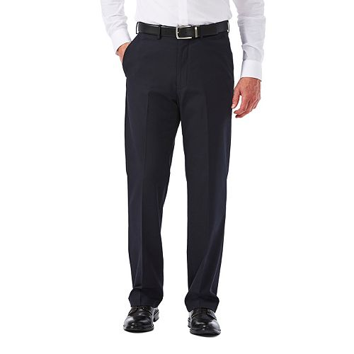Big & Tall Haggar Premium Stretch Classic-Fit Plain-Front Dress Pants