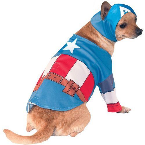 Pet Marvel Captain America Costume