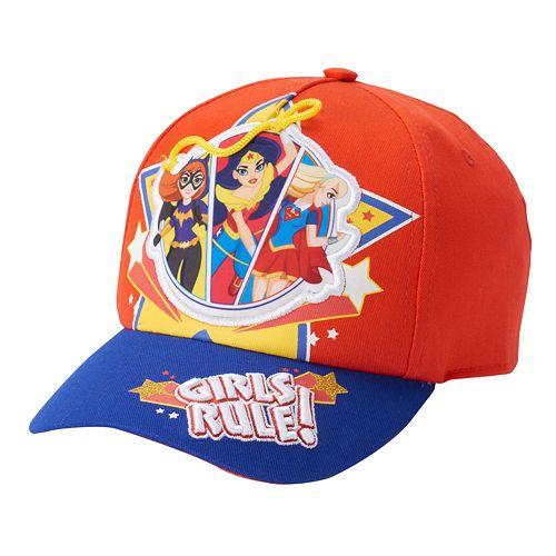 Girls 4-16 DC Comics DC Super Hero Girls Batgirl Wonder Woman & Supergirl Baseball Hat