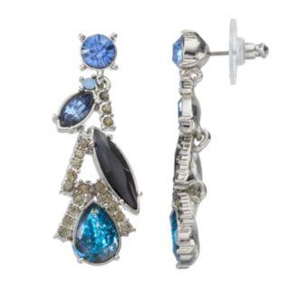 Simply Vera Vera Wang Blue Geometric Linear Drop Earrings