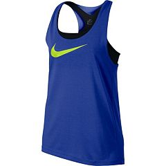 Girls 7-16 Nike Swoosh Built-In Sports Bra Racerback Tank Top