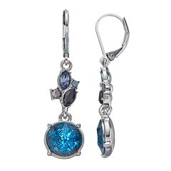 Simply Vera Vera Wang Blue Cluster Drop Earrings