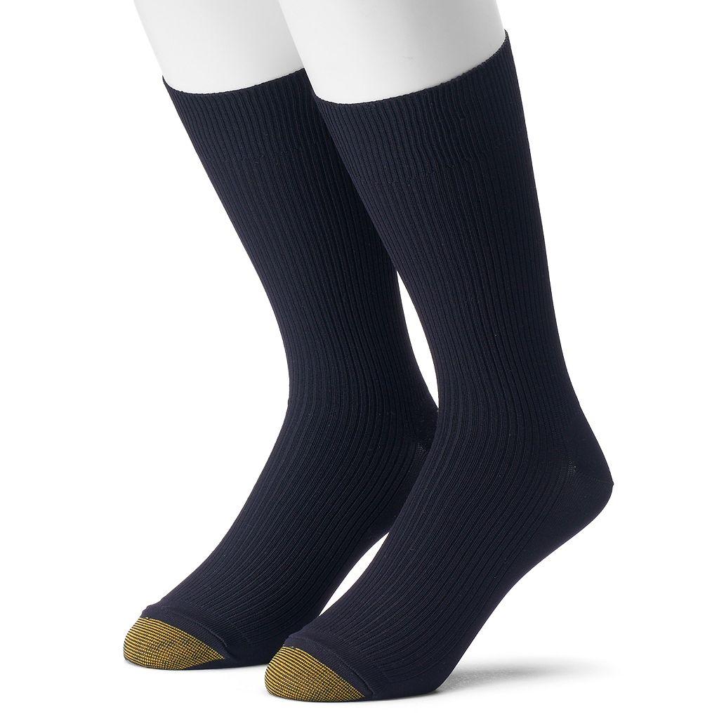 Men's GOLDTOE Non-Binding Microfiber Dress Socks
