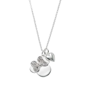 Disney's Minnie Mouse Crystal Charm Necklace
