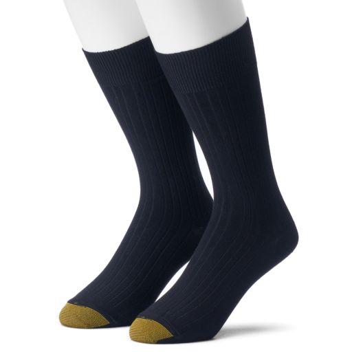 Men's GOLDTOE 2-pack Comfort Top Rayon From Bamboo Crew Socks