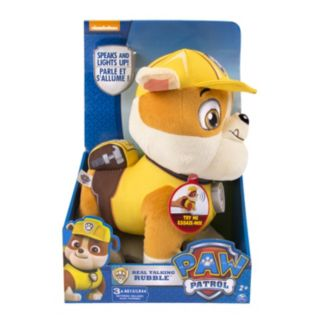 Paw Patrol Talking Rubble Plush