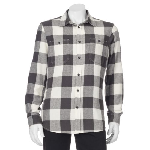 Big & Tall SONOMA Goods for Life™ Classic-Fit Plaid Button-Down Shirt