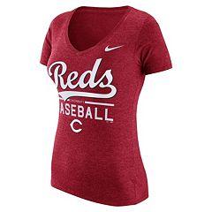 Women's Nike Cincinnati Reds Practice V-Neck Tee