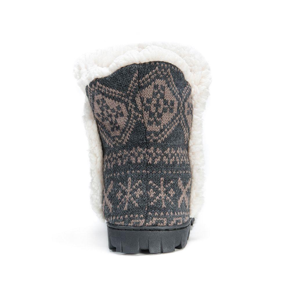 MUK LUKS Women's Lug Bootie Slippers