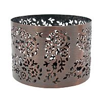SONOMA Goods for Life™ Small Floral Copper Finish Sleeve Candleholder