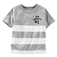 Boys 4-8 OshKosh B'gosh® Short Sleeve Embroidered Chest Striped Tee