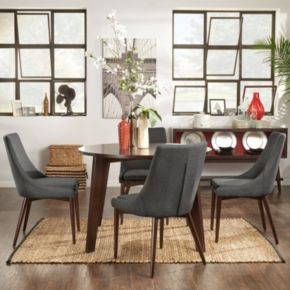 HomeVance Allegra Dining Table & Chair 5-piece Set
