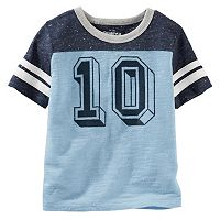 Boys 4-8 OshKosh B'gosh® Short Sleeve Number Graphic Speckled Colorblock Tee