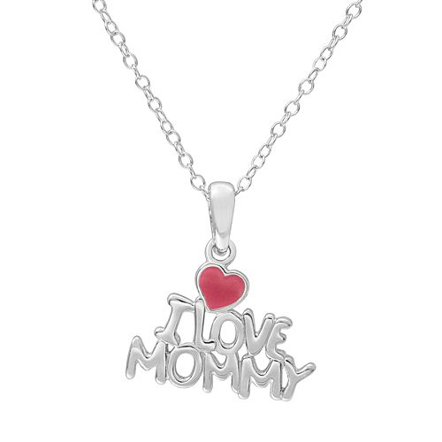 "Hallmark Kids' Sterling Silver ""I Love Mommy"" Pendant"