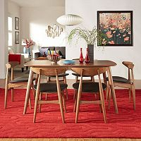 HomeVance Andersen Dining Table & Chair 7 pc Set